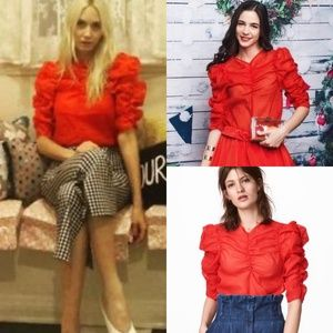 Beautiful Red Puff Blouse